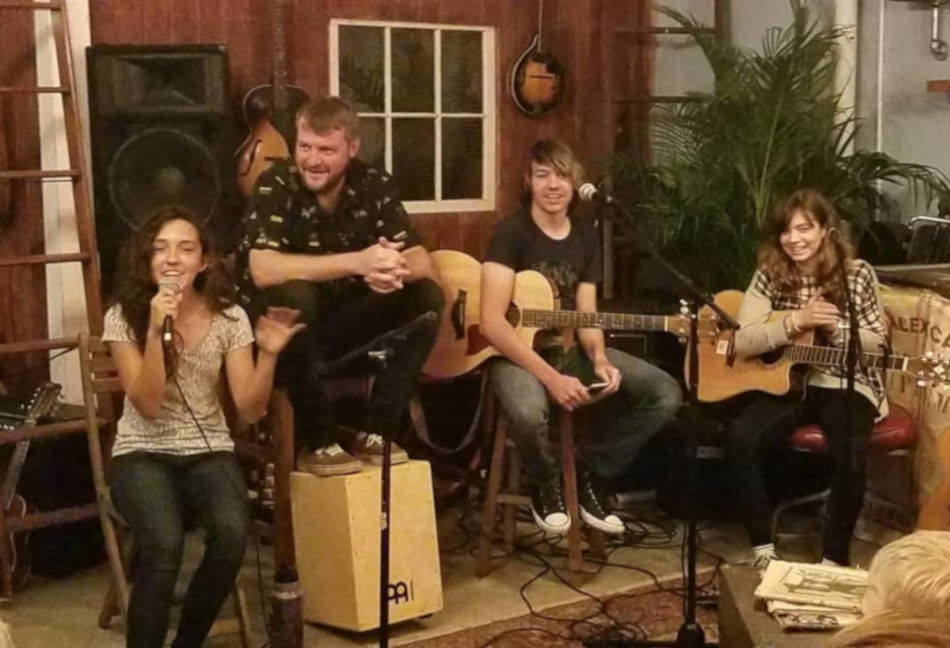 Teen and adult singer/songwriters performing at Black Crow Coffee